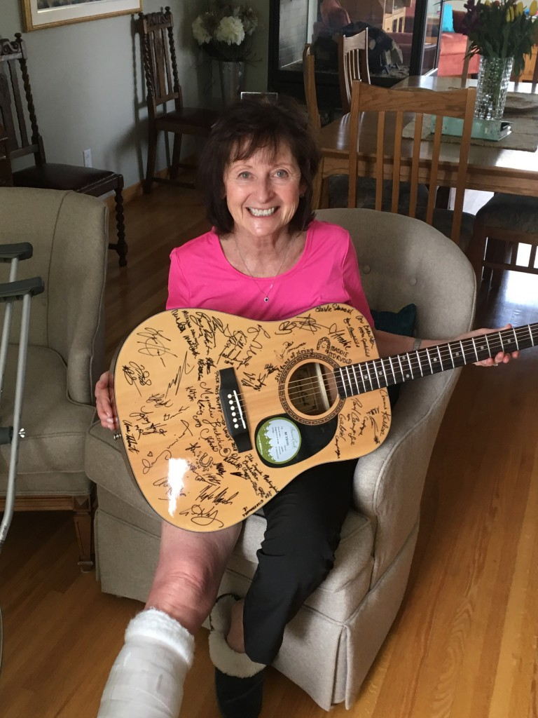 Cathy Wilson and guitar